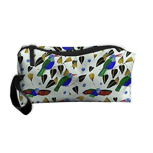 Kla Ju Portable Pencil Bag Purse Pouch Hummingbird Cute Bird Stationery Storage Organizer Cosmetic Holder