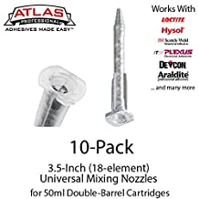 Small Mixing Nozzles -Tips for 50ml Cartridges (3.5-inch 18-element Static Mixers) (10)