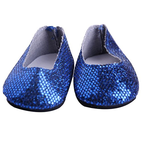 Inch Our Chaussures For Yuyoug Shoe Shoes Doll Girl Generation Accy 18 Glitter Blue American Dress zFvqWxgd