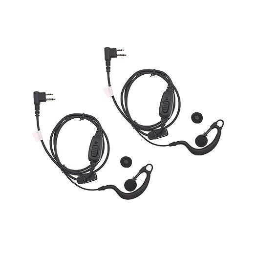 Walkie Talkie PTT Headset for HYT TC-580 TC-446S TC-600 TC-610 TC-620 G Hook Earphone for Hytera TC-500 TC-518 TC-618 TC-700 Walkie Talkie earpiece ...