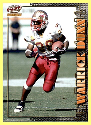 1997 Pacific Invincible Smash Mouth X-tra #37 Warrick Dunn TAMPA BAY BUCCANEERS ROOKIE RC