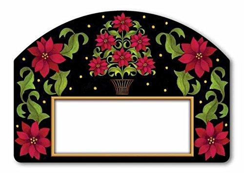 Poinsettia Topiary - Poinsettia Topiary Yard DeSigns® Magnet