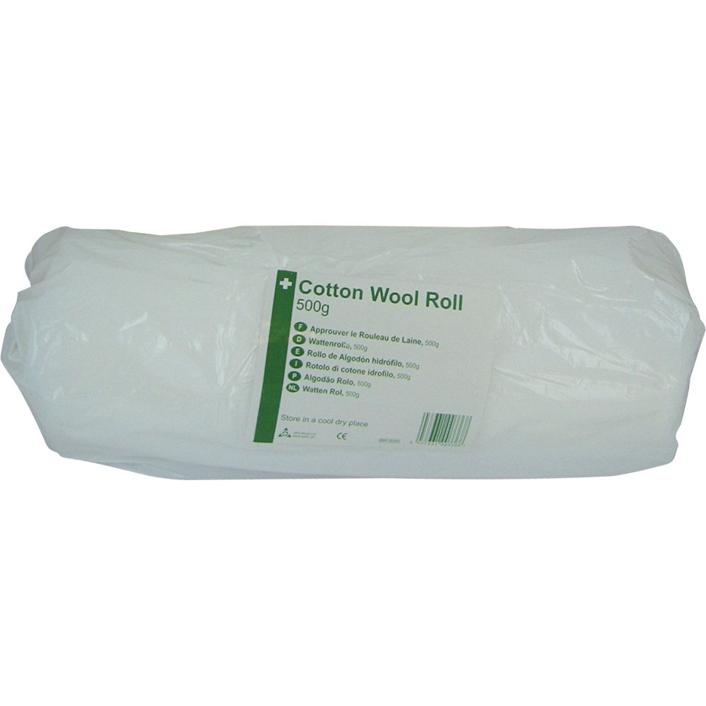 Safety First Aid D3703 HypaCover Cotton Wool Roll, 500 g Safety First Aid Group