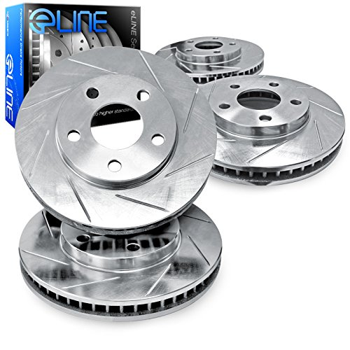 For 2001-2006 BMW M3 Front Rear eLine Slotted Brake ()