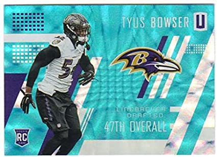2017 Panini Unparalleled Teal Parallel /49 RC #281 Tyus Bowser Ravens