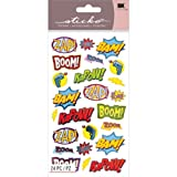 These Punch Captions stickers feature phrases inspired by 1960s comic books. Perfect for scrapbooks, cards, notebook covers - almost anything. Sticko Stickers are known for their distinctive style and assortment of designs in a variety of mat...