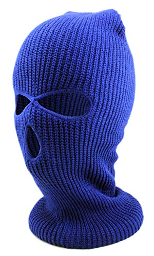 Enimay Three Hole Ski Snowboard Mask Winter Beanie Balaclavas Royal Blue ()