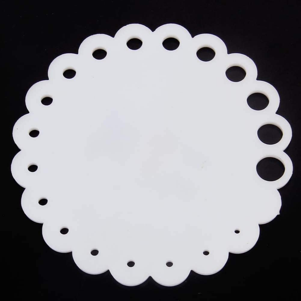 Sheep Round Sizes 2 mm 10 mm Measure Rule Knitting Needle Gauge Tool Accessory White Ameesi