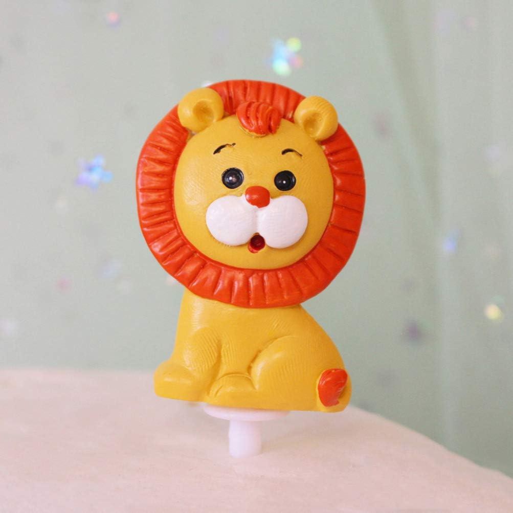 PRETYZOOM Decorazione a Tema Animali Toppers Cupcake Giungla Safari Decorazione Torta Argilla Polimerica Decorazione Torta Animale 6Pz