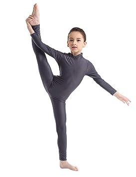 iiniim Maillot Manga Larga con Cremallera Niña Ballet Danza Gimnasia Ritmica Artística Leotardo Clásico Elástico Bailarina Leotard Mono Unitard ...