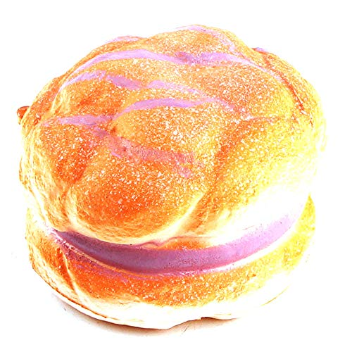 Ulanda Squishies Hamburger Slow Rising Mini Bread Scented Squishy Squeeze Relieve Stress Toy Keychain]()