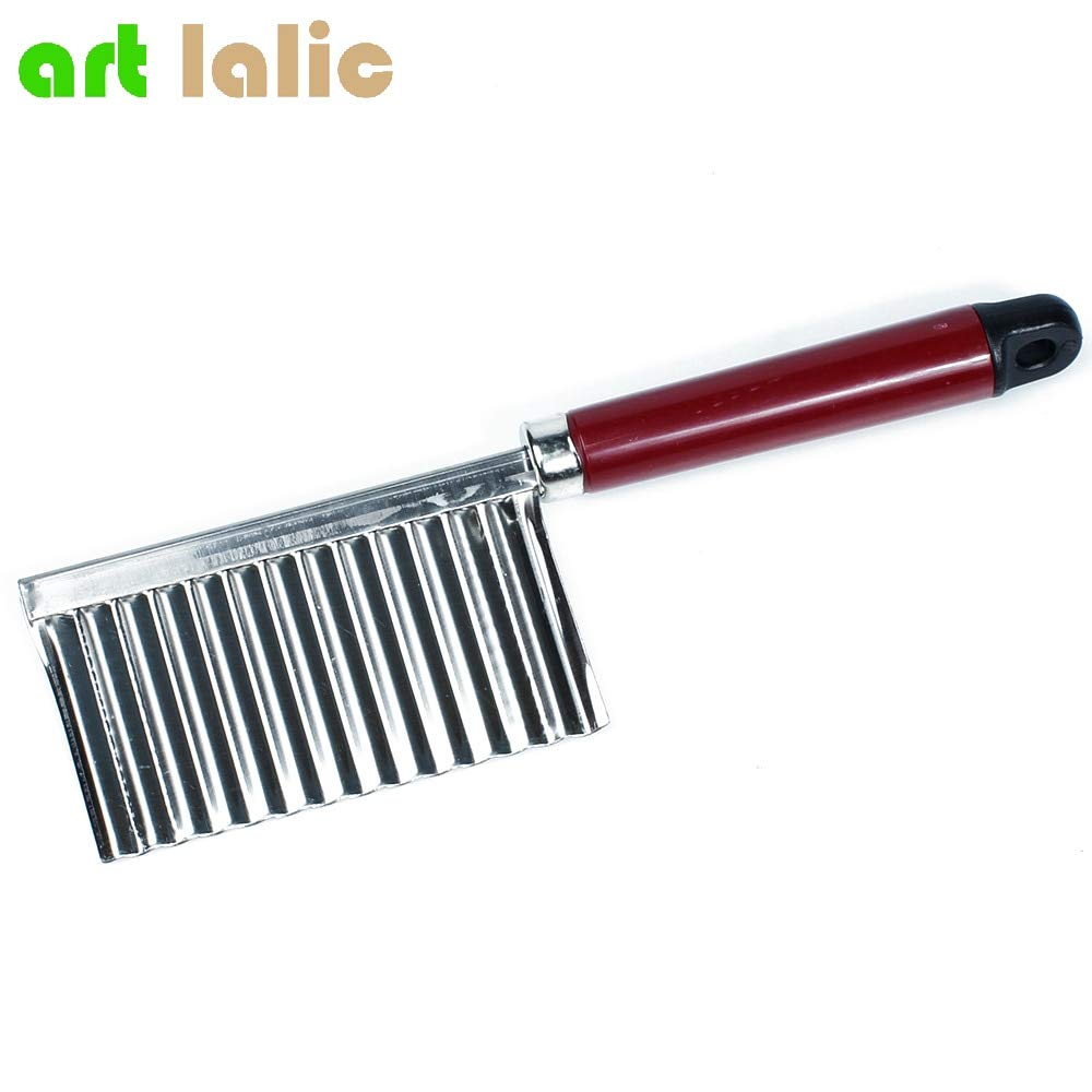 Potato Wavy Edged Knife Stainless Steel Kitchen Gadget Vegetable Fruit Cutting Peeler Cooking Tools kitchen knives Accessories by Artlalic (Image #3)