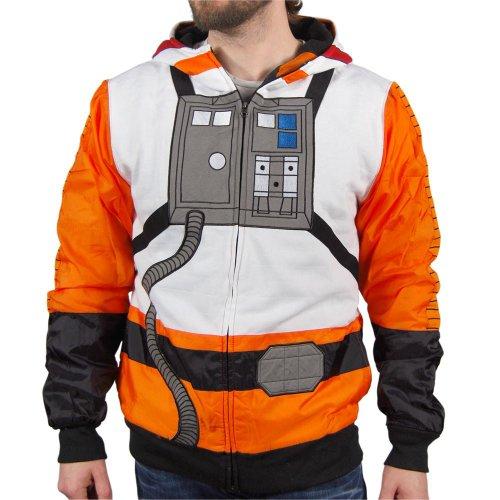 Star Wars Luke Skywalker Flight Suit Costume Hoodie Sweatshirt (Adult XX-Large) -