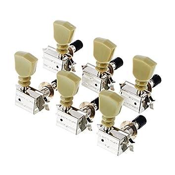 CLAVIJERO GUITARRA ELECTRICA/ACUSTICA - Schaller (520) (Niquelado ST6 K) 3+3/Tipo Kluson: Amazon.es: Instrumentos musicales