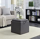 Convenience Concepts 143010FSGY Designs4Comfort Ottoman, Soft Gray Fabric