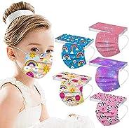 50 Pcs Kids Disposable Face_Masks,Printed Facemasks for Children Back to School