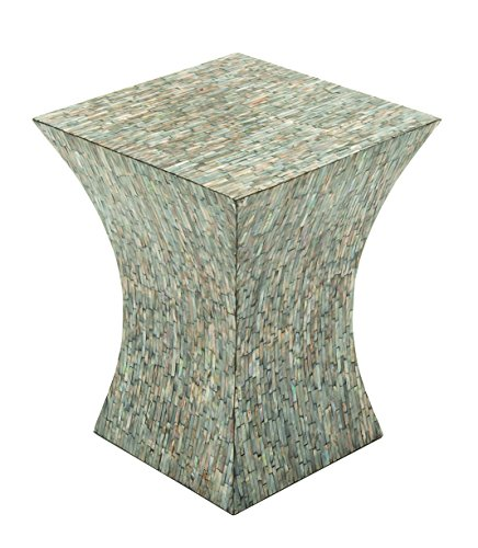 Column Accent Table (Deco 79 49094 Wood Inlay Accent Table)