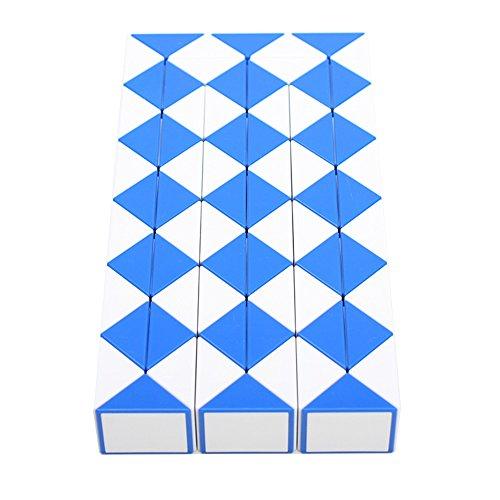 [해외]HJXD globle Magic Snake Twist Puzzle Twisty Toy Collection 72 Wedges Magic Ruler Blue / HJXD globle Magic Snake Twist Puzzle Twisty Toy Collection 72 Wedges Magic Ruler Blue