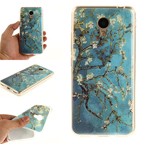 Fit Transparent Motif Protection Cas Pear Scratch Meilan Silicone En Téléphone flower Résistant Meizu Antichoc Couverture Souple De Arrière Hozor Bord TPU Cas De 5C 5A Peint Slim wp6XSqA