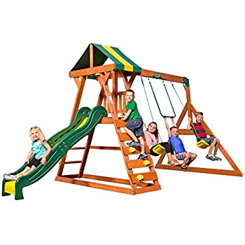 Amazon.com: Backyard Discovery Madison Wooden Swing Set ...