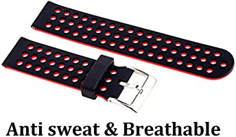 Greatfine Soft Silicone Replacement Sport 20mm Band Correa para ...