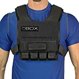 Box 20 Lb Super Short Weight Vest - Made in USA - Built for Gym Weight Loss Training