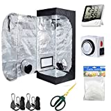 Hydro Plus Grow Tent Room Kit 16''x16''x48'' Indoor Plants Growing Reflective Mylar Dark Room Non Toxic Hut + Hydroponics Growing System Accessories (16''x16''x48'' Kit)