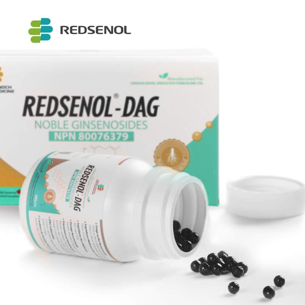 Redsenol-DAG Sublingual Pills-8 Rare Ginsenosides:Rk2 Rh3 aPPD Rg5-14% Rare Ginsenosides-2 Bottles