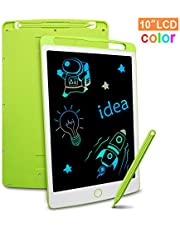 Richgv Colourful LCD Writing Tablet, 10 Inch Digital Ewriter with Erase Lock Switch, Electronic Graphics Drawing Board, Portable Handwriting Doodle Pad for Kids Office Home Learning Toys Gifts(Green)