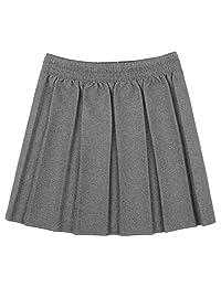 FASHION FAIRIES Girl Box Pleated Elasticated Waist Mini School Skirt
