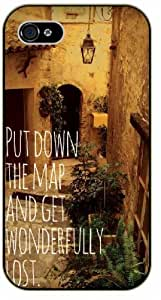 Put down the map and get wonderfully lost - Vintage house - Adventurer iPhone 5C plastic case BLACK