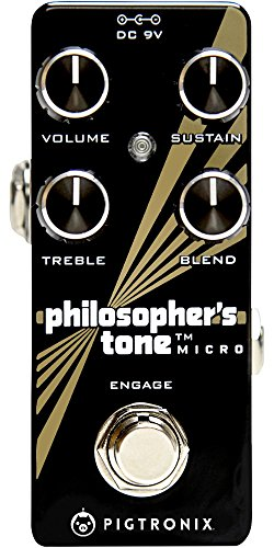 Pigtronix Guitar Compression Effects Pedal, Black (PTM) (Volume Optical Pedal)