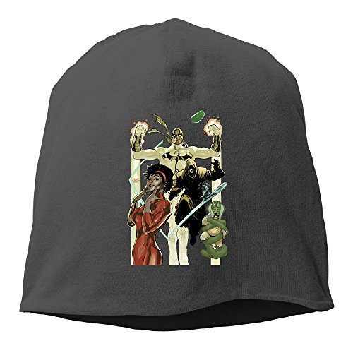 [Caryonom Adult Iron Fist Misty Knight Poster Beanies Skull Ski Cap Hat Black] (Dark Souls Black Knight Costume)