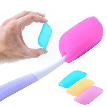 papait cepillo de dientes Cubre Pack de 6, apto para uso alimentario de silicona - ideal para el hogar, al aire libre y viaje: Amazon.es: Hogar