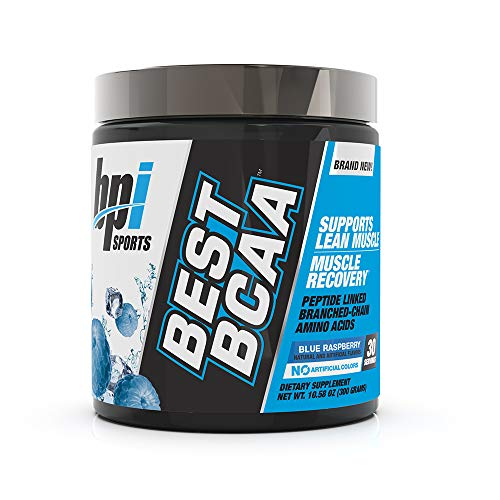 BPI Sports Best BCAA - BCAA Powder - Branched Chain Amino Acids - Muscle Recovery - Muscle Protein Synthesis - Improved Performance - Hydration - Blue Raspberry - 30 Servings - 10.58 oz.
