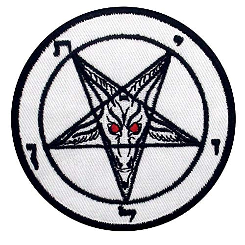 Pentagram Goats Head Baphomet Death Satanic Sex Patch Embroidered Applique Badge Iron On Sew On Emblem