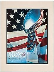 "1976 Steelers vs Cowboys 10.5"" x 14"" Matted Super Bowl X Program - NF"