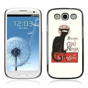 YOYOSHOP [Attaque Du Cat Ninja Funny ] Samsung Galaxy S3 Case hjbrhga1544