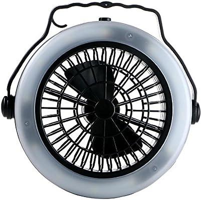 3-En-1 LED Que Acampa del Ventilador Y De La Lámpara De La Tienda Que Cuelga Al Aire Libre Que Camina La Luz Que Acampa De La Pesca Que Acampa: Amazon.es: Hogar