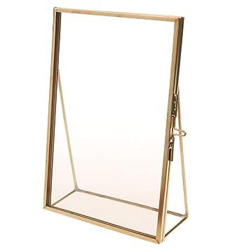 Glas Bilderrahmen Gold
