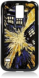 Tardis Explosion Samsung Galaxy S5 I9600 - Hard black plastic snap on case.