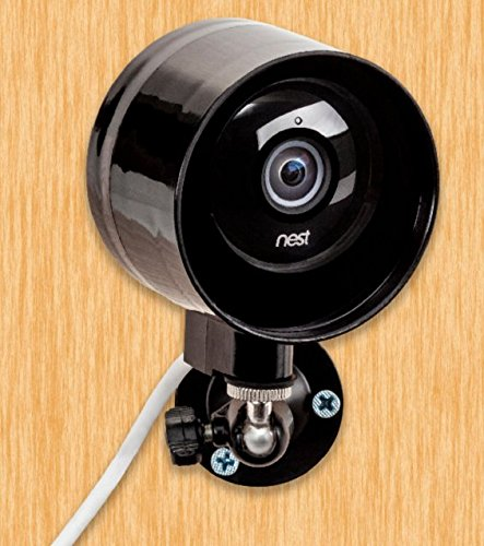 Outdoor-Case-and-Flexible-Wall-Mount-for-Nest-Cam-Dropcam-Pro---100-Weatherproof---100-Day-Night-Vision---With-Heat-Sink-to-Avoid-Overheating-Black