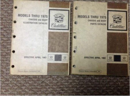 1967 1968 1969 1970 1972 1973 1974 1975 CADILLAC Parts Catalog Manual SET x (Cadillac Repair Parts)