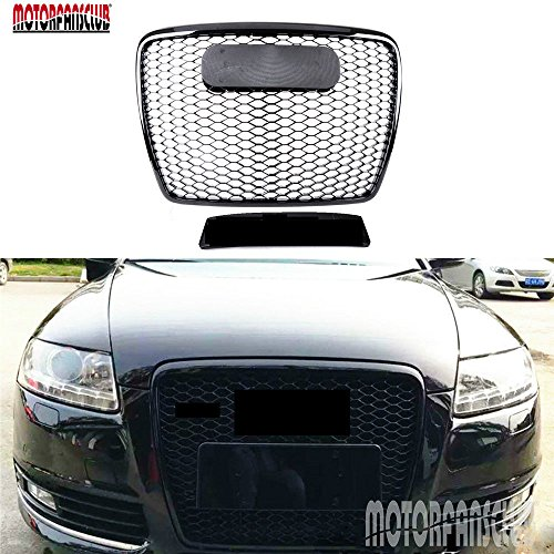 Good Motorfansclub Front Grille Black Mesh Honycomb Sport Grill For