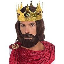 Forum Novelties Women's Royal King Costume Wig Beard and Mustache