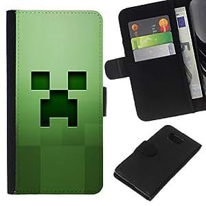 NEECELL GIFT forCITY // Billetera de cuero Caso Cubierta de protección Carcasa / Leather Wallet Case for Samsung ALPHA G850 // Fluencia Verde
