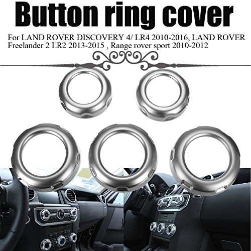 Land Rover Styling - Value.Trade.Inc - 5Pcs Car Dashboard Console Switch Button Ring Cover Trim Auto Styling Chrome for Land Rover Discovery 4 Range Rover Sport