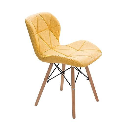 QYJ-Dining chair Silla Doméstica De Cocina, Cojín Y Respaldo ...