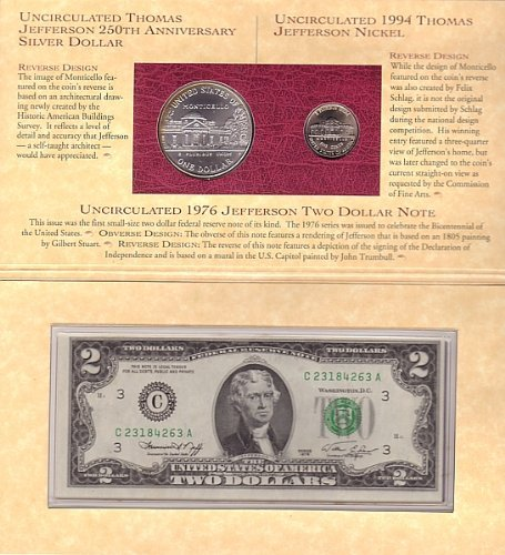 Amazon.com: Thomas Jefferson Coinage and Currency Set ...