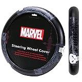 punisher steering wheel cover - 1 PIECE MARVEL PUNISHER BLACK STEERING WHEEL COVER CARS TRUCKS VANS SUVS